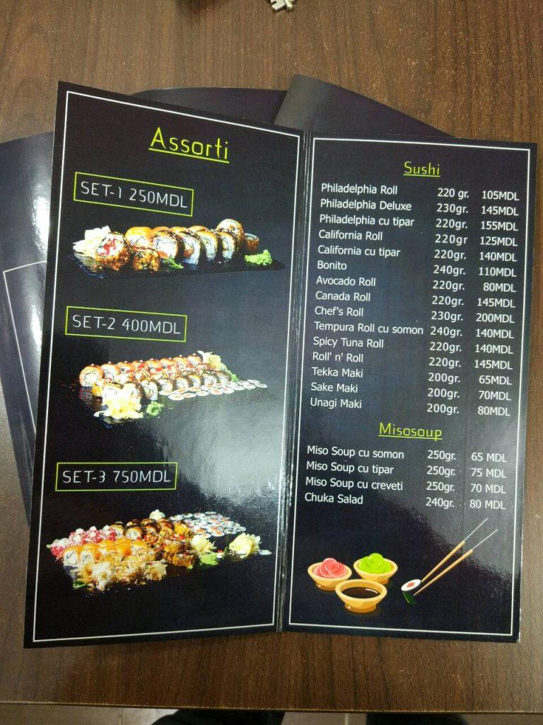 Meniu Sushi