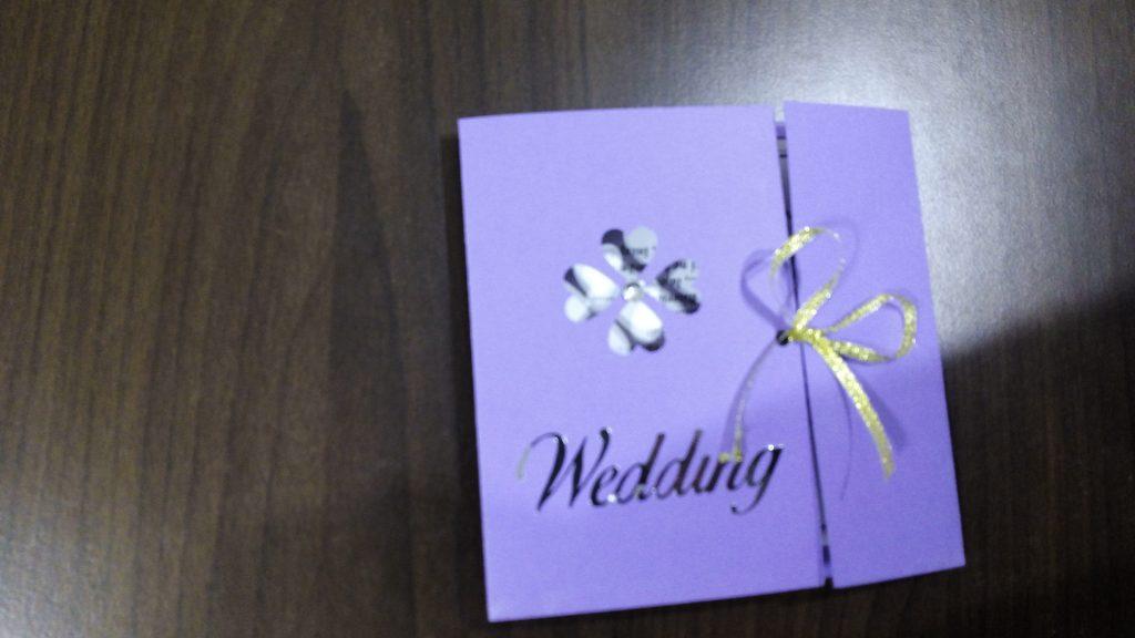 Invitație Violet Flower